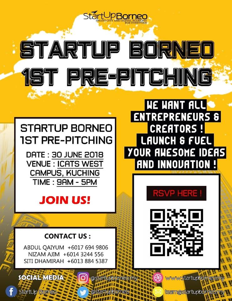 [Poster]1st StartUp Borneo Pre-pitching