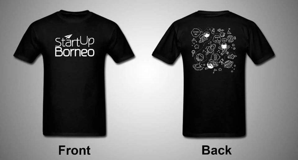 [MERCHANDISE]StartUp Borneo Round Neck T-Shirt in Black