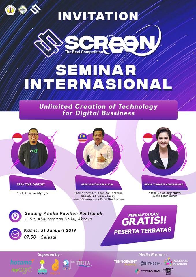 """Seminar internasional """"Unlimited creation of technology for digital bussiness"""""""