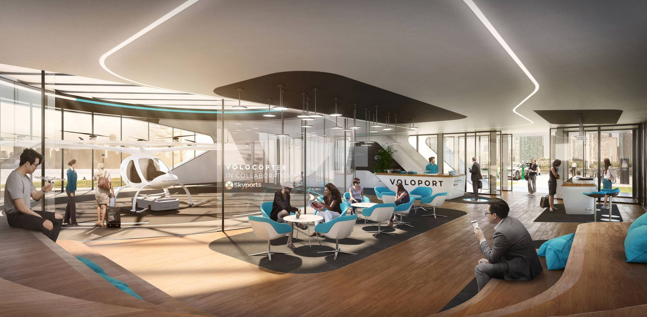 Skyports and Volocopter Building 'Volo-Port' in Singapore