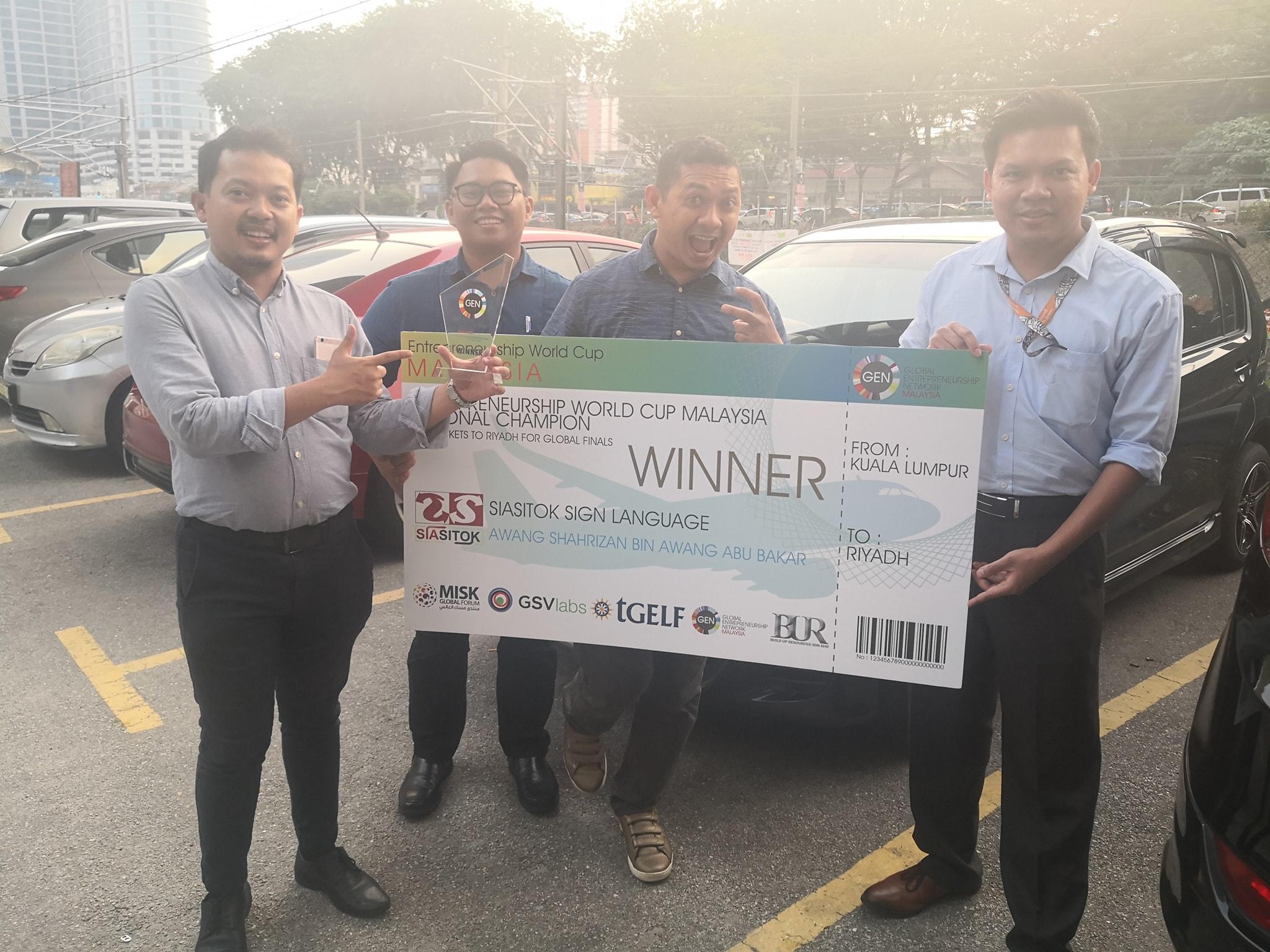 SiaSitok Won Entrepreneurship World Cup National!