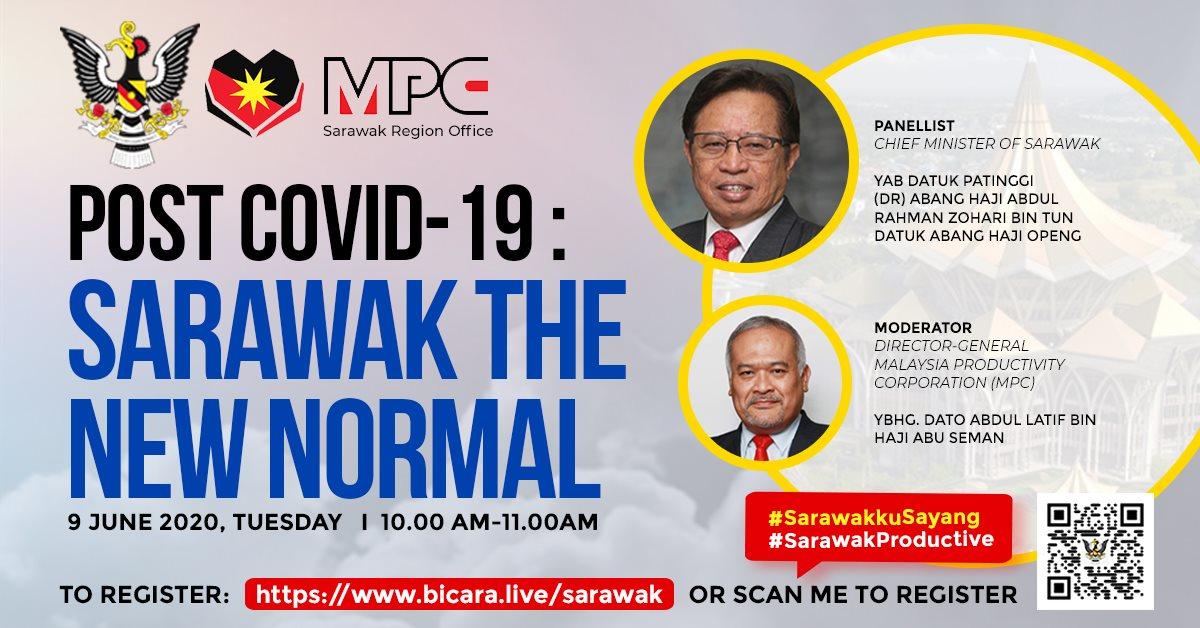 Abang Jo Akan Lancarkan 'Sarawak Productive' Menerusi Webinar 9 Jun Ini