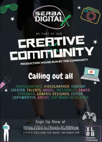 Calling out all creative talent to join up this XLR8 community