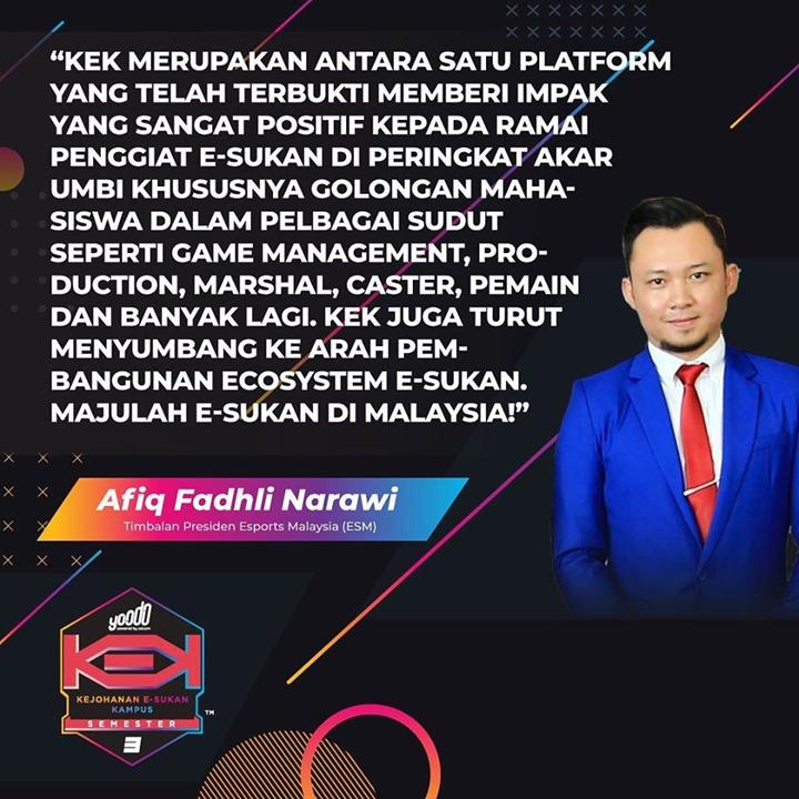 MAJULAH E-SUKAN DI MALAYSIA!
