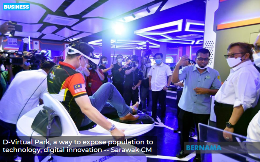 D-Virtual Park, a way to expose population to technology, digital innovation — Sarawak CM