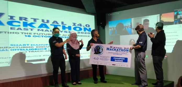 Happy Go Lucky juara Pertandingan Virtual I4.0 Hackathon Malaysia Timur 2020