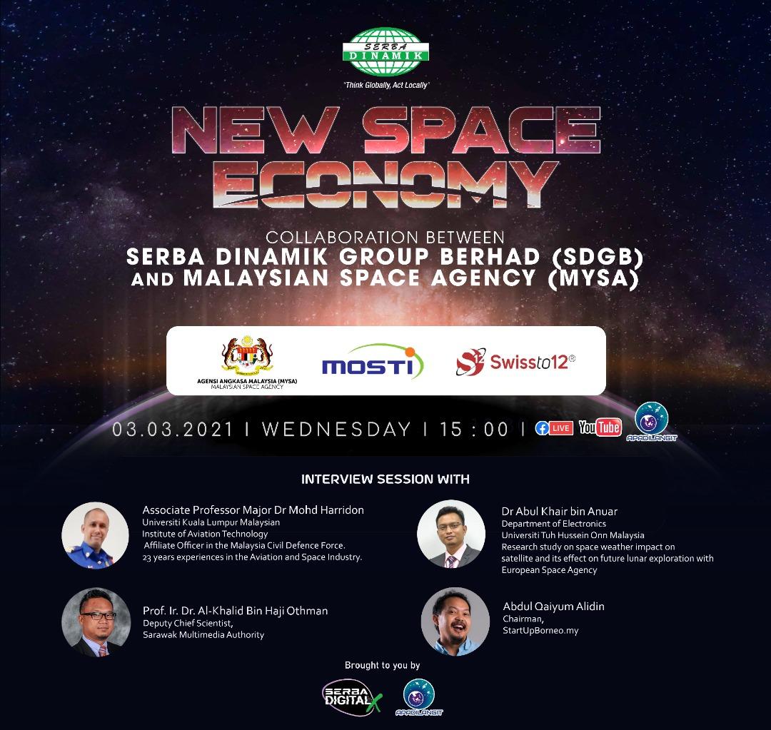 """New Space Economy"" dan kerjasama Serba Dinamik Group Berhad"