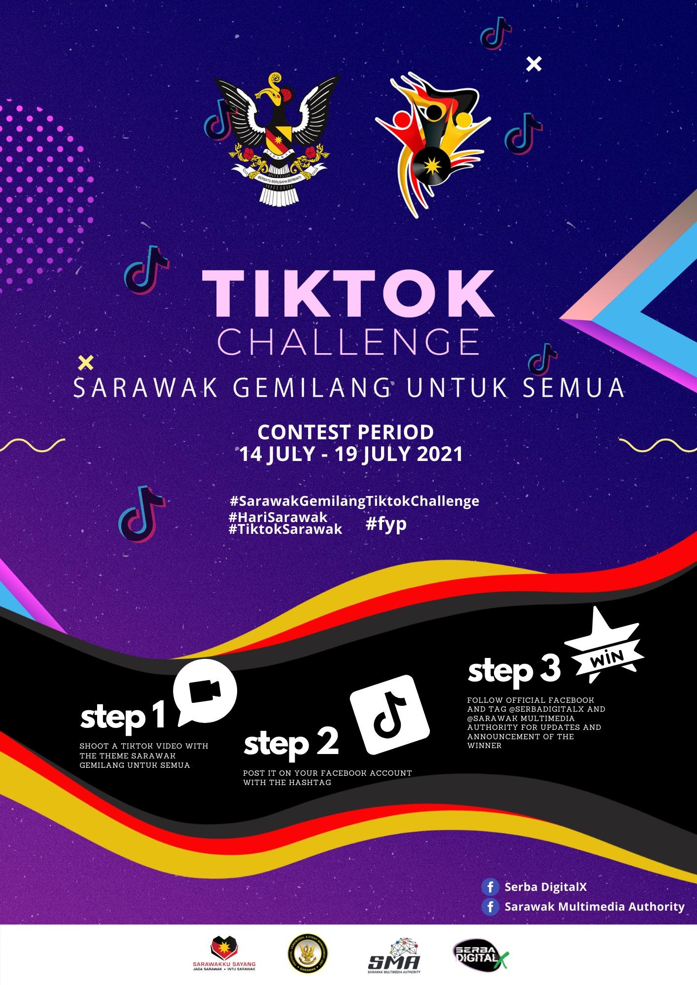 Tiktok Challenge Sarawak Gemilang untuk Semua!