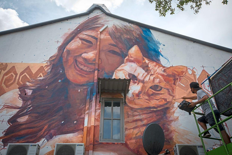 Kuching finally gets cat on a wall – Old Kuching Smart Heritage