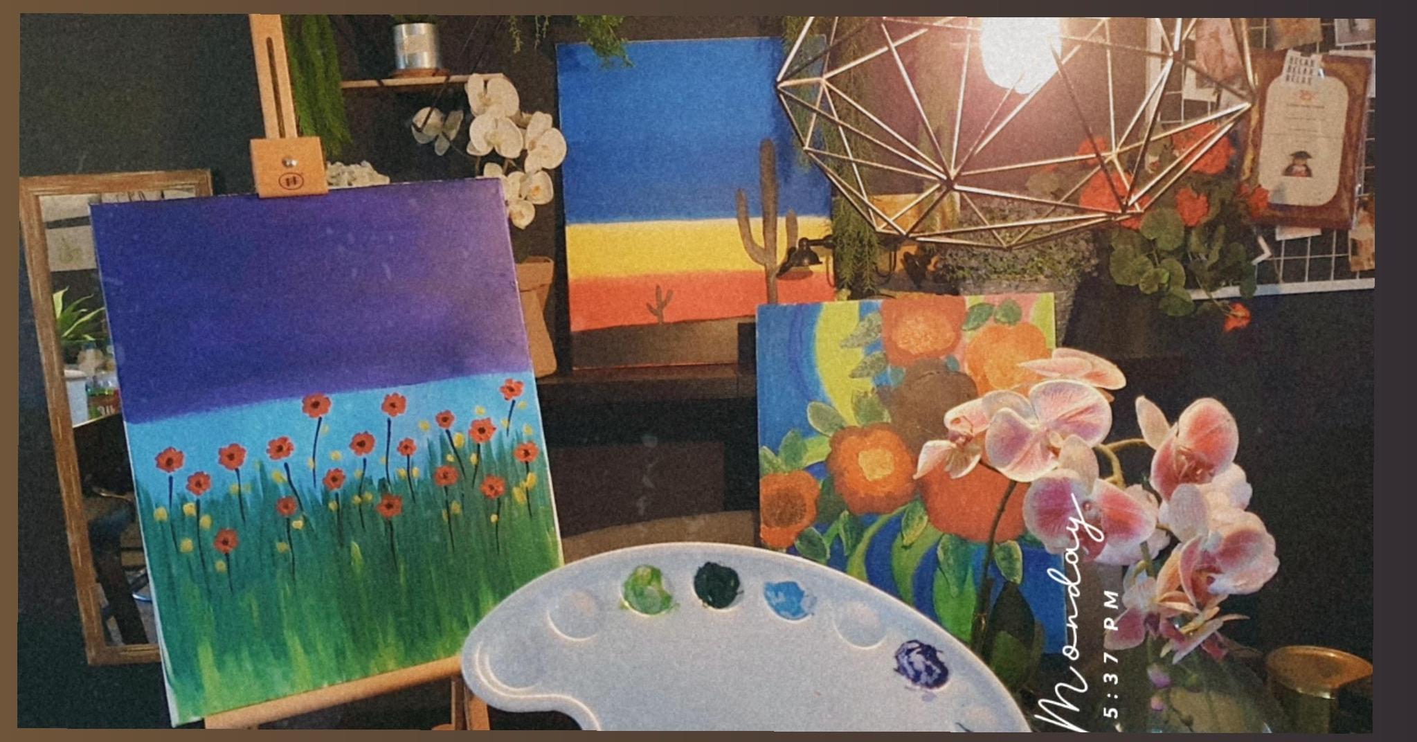 4 setakat ni lukis pakai kanvas..jom beli lagi kanvas Sazel Aspihan..penuhkan sy…