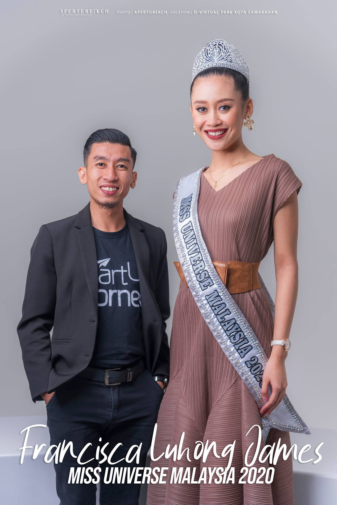 with Miss Universe Malaysia 2020 (Francisca Luhong James Official)  #MissUnivers…