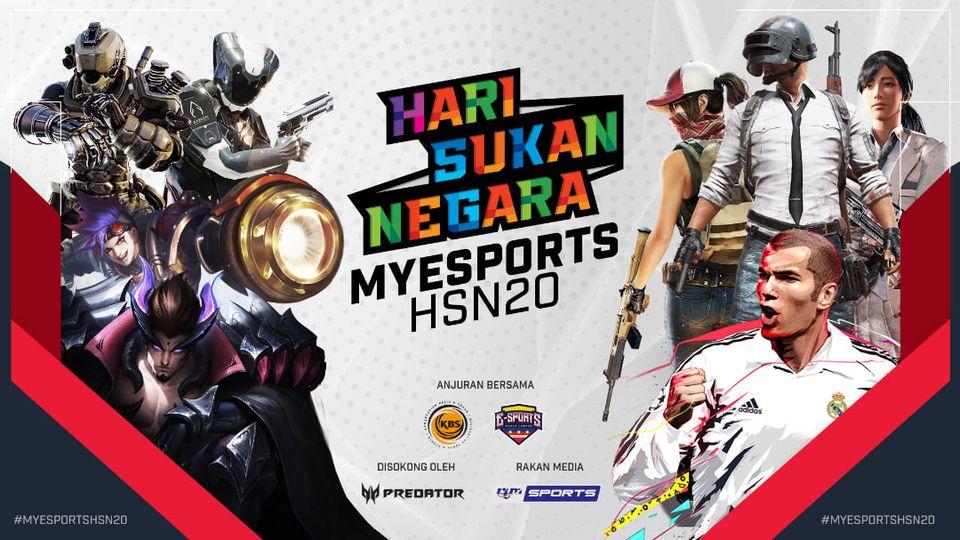 Kemeriahan Hari Sukan Negara 2020 diwarnai dengan kejohanan MyEsports HSN 2020 a…