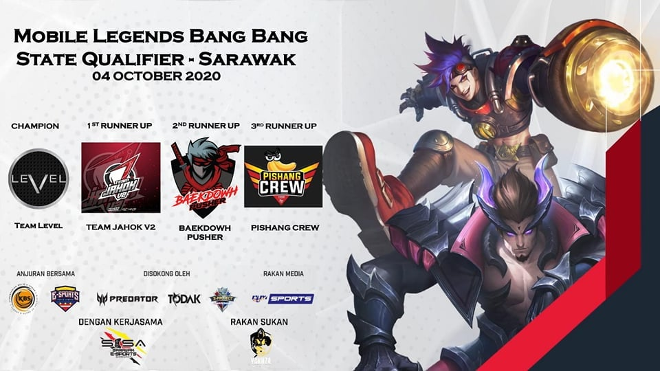 Malaysia Esports Masters 2020 Sarawak State Qualifier This is the TOP 4 teams ou…