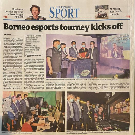 """""""MyBorneo E-Force Invitational is a good platform for local amateur gamers to co…"""