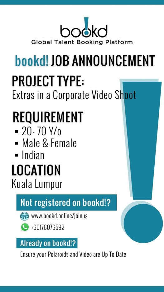 JOB ANNOUNCEMENT  Project Type  Extras in a Corporate Video Shoot  Requirement…