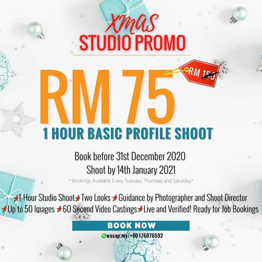 Make your wish come true with bookd! XMAS STUDIO PROMO.Don't miss out this exclu…