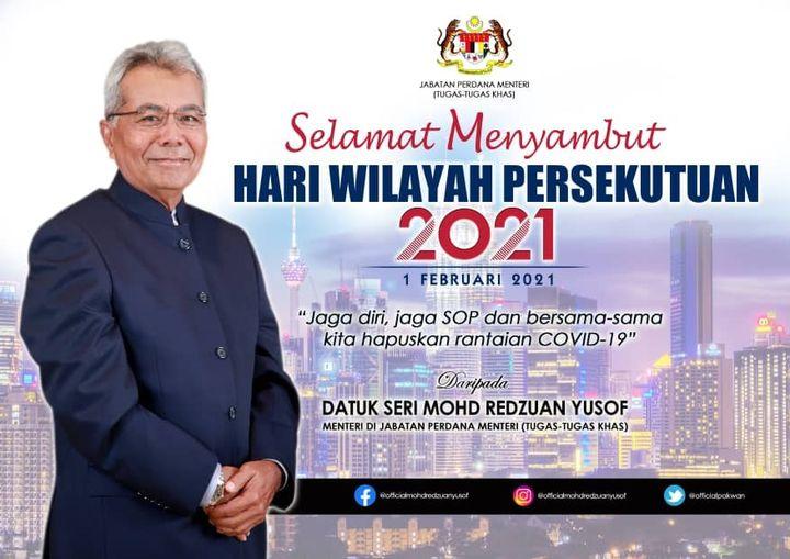 Selamat Menyambut Hari Wilayah Persekutuan 2021. Sambutan tahun ini merupakan ya…