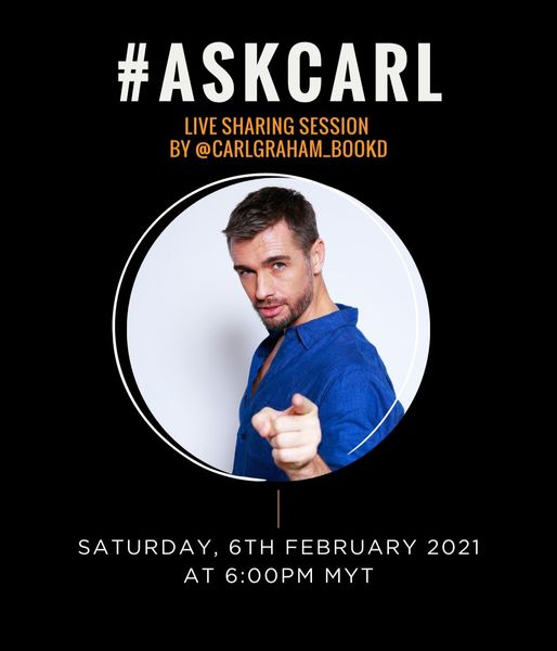 We are back with more  #ASKCARL! Join In IG Live session at 6PM today with bookd…