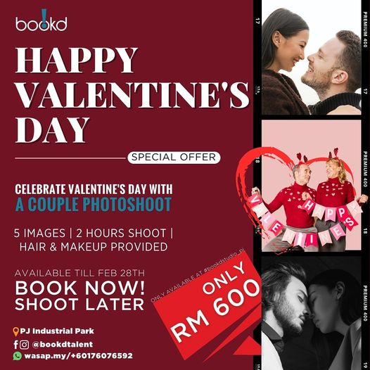 Special Offer for this Valentine's Day  Book for your Couple Photoshoot   wasap….