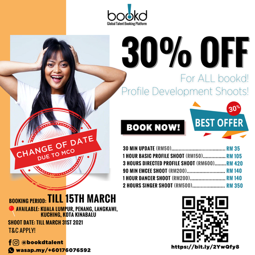 BREAKING NEWS: Booking Date change to 15th March!  Now you can enjoy any of the …