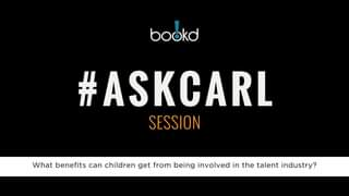 #askcarl anything about the industry or your career.  Book any of the studio sho…