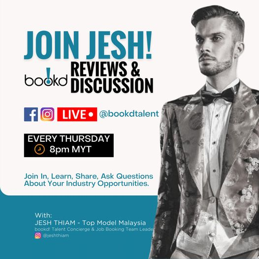 See You Again Tonight 18th March, Thursday at 8PM MYT!  Ask Jesh Thiam anything….