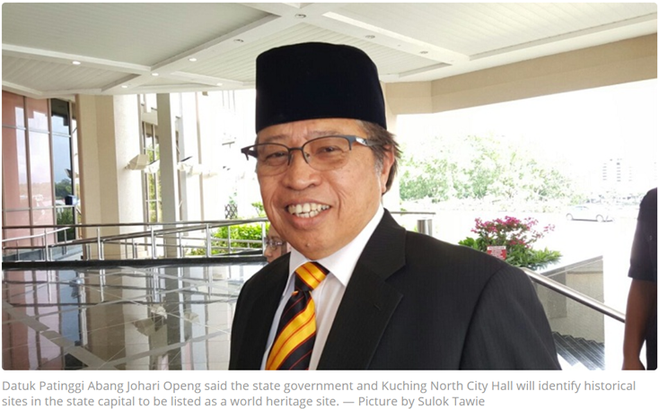 Sarawak eyes several location in Kuching as Unesco heritage sites