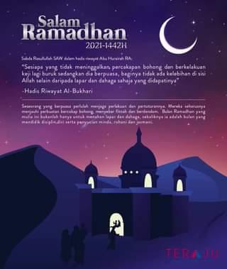 Salam Ramadhan 1442H dari seluruh warga TERAJU.
