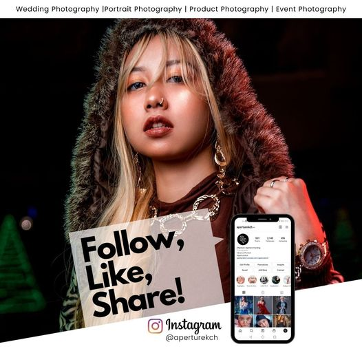 Let us take a good portrait of you! follow us at our Instagram The Aperture
