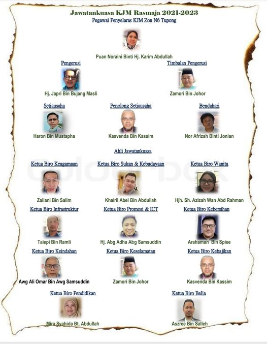 Ahli Jawatankuasa KJM Matang Baru 2021-2023