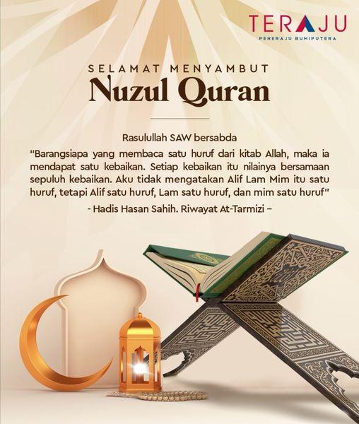 Salam Nuzul Quran dari seluruh warga TERAJU. Semoga beroleh keberkatan di bulan …