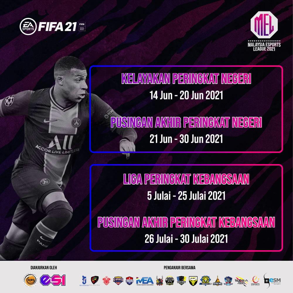 Pendaftaran FIFA 2021 untuk MEL2021 Peringkat Negeri Sarawak kini dibuka !! Sila…