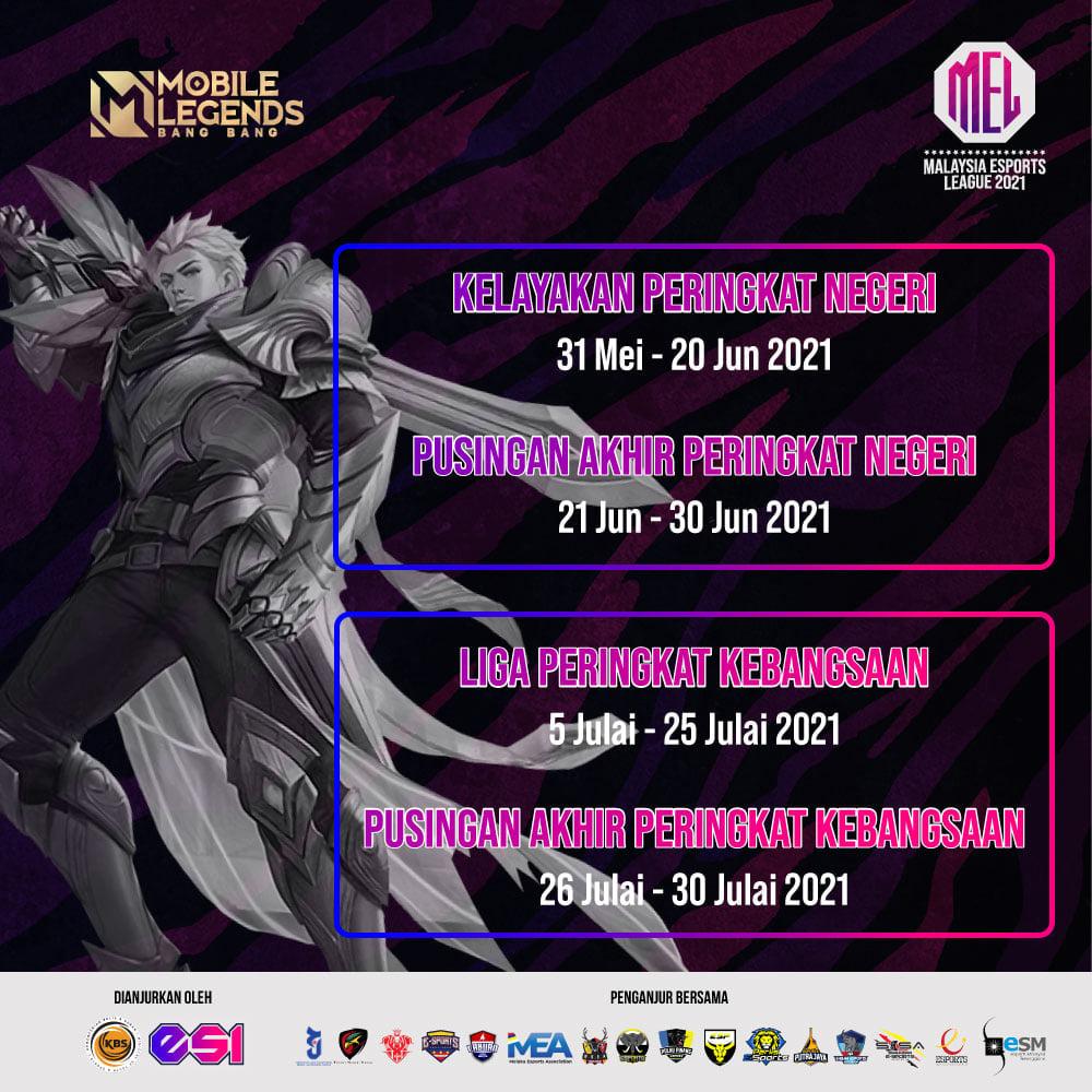 Pendaftaran MLBB untuk MEL2021 Peringkat Negeri Sarawak kini dibuka !! Sila daft…
