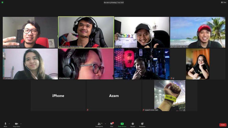 Meeting PKP , Virtual Online Meeting Sahaja , Kerja Tetap Kerja