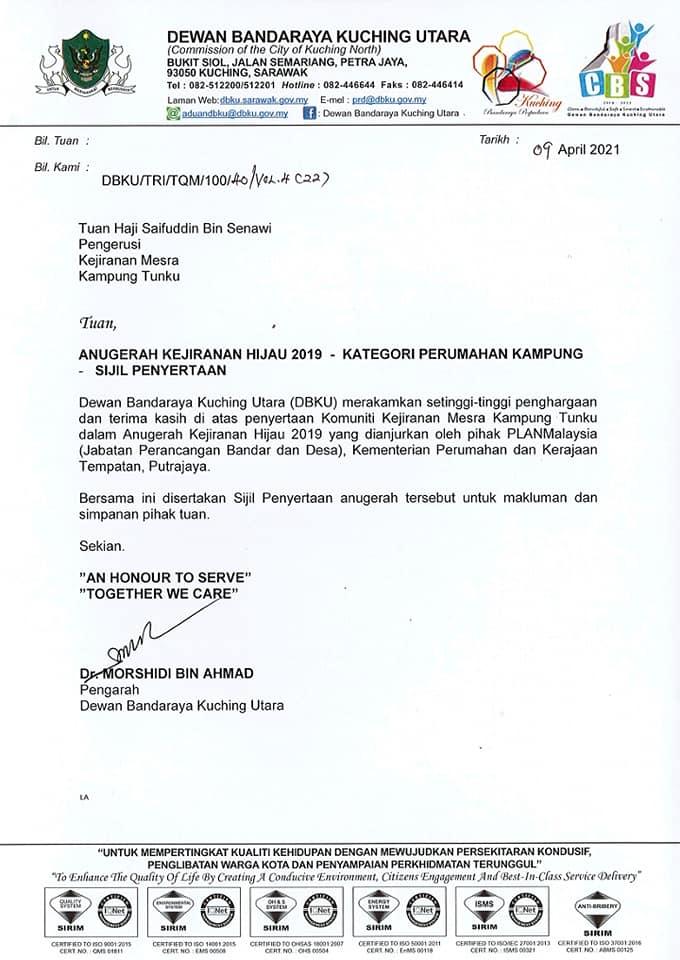 Tahniah KJM Kpg. Tunku.