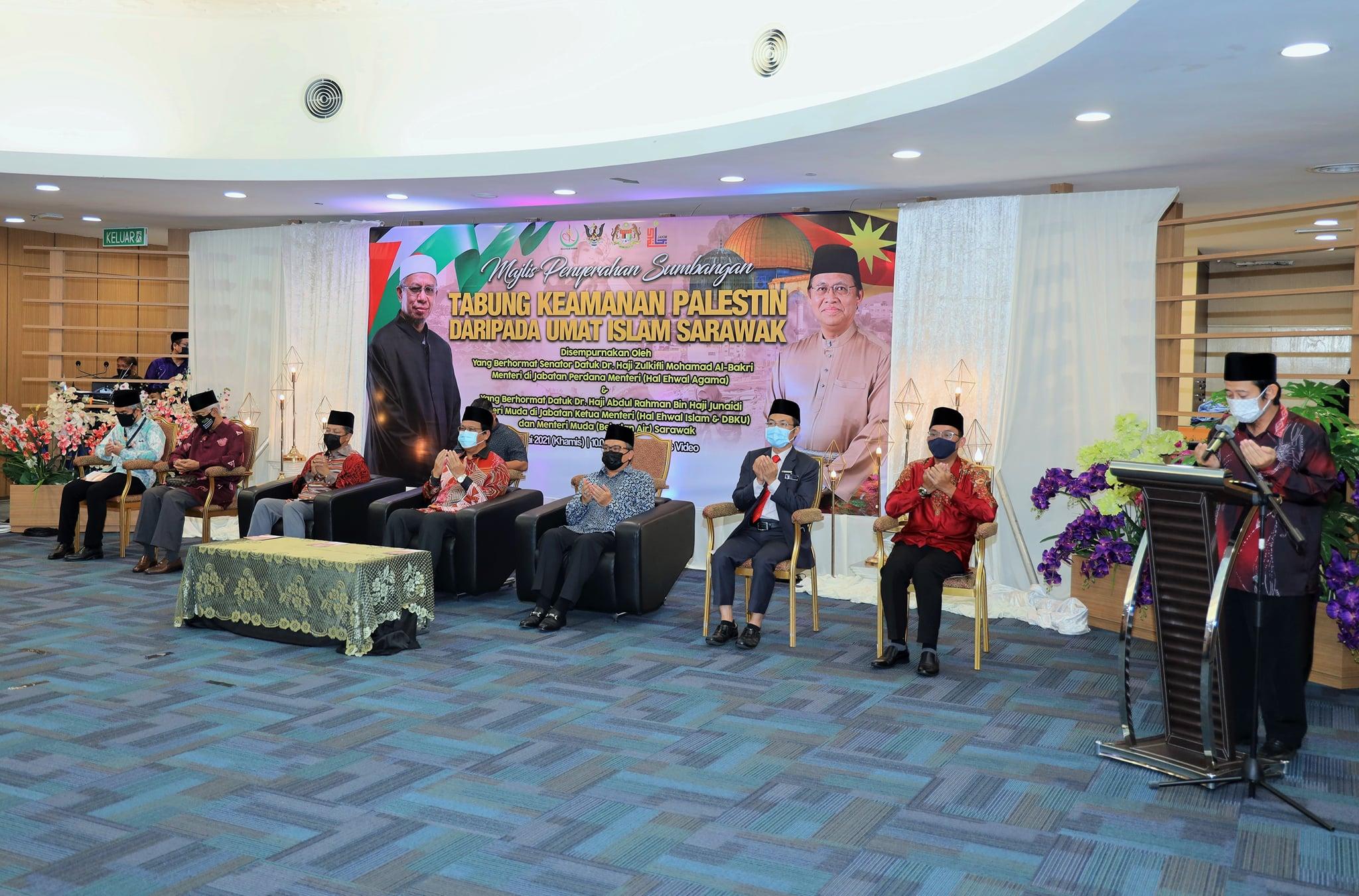 Majlis Penyerahan Sumbangan Tabung Keamanan Palestin daripada Umat Islam Sarawak…