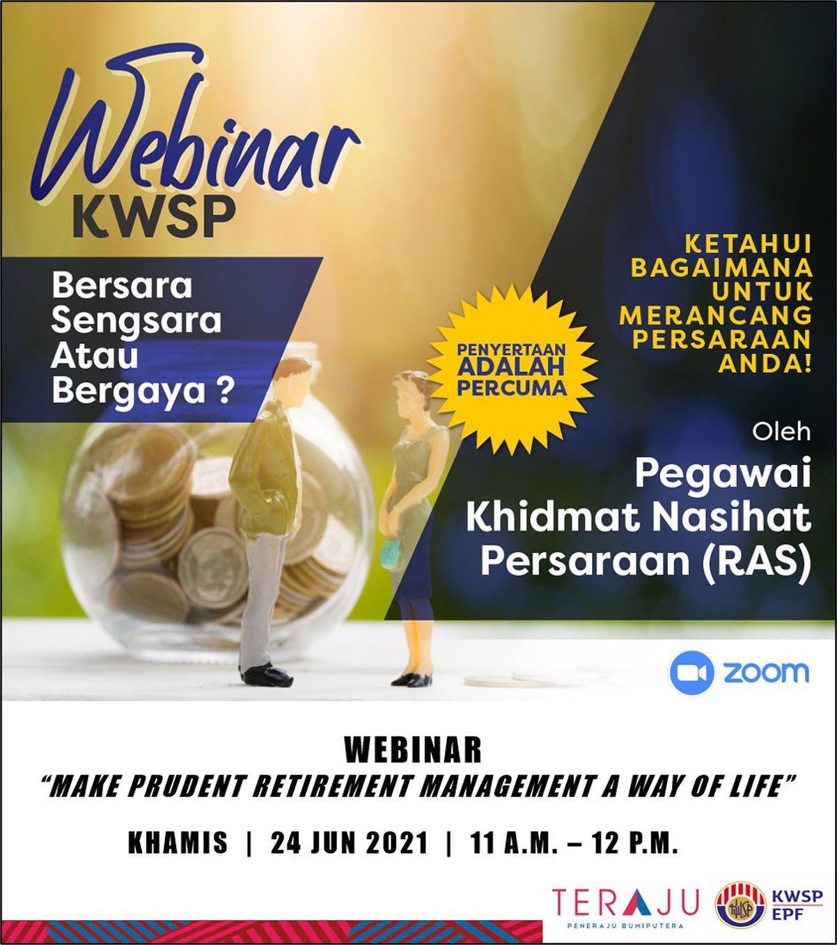 Satu sesi Webinar bersama Kumpulan Wang Simpanan Pekerja (KWSP) telah diadakan s…