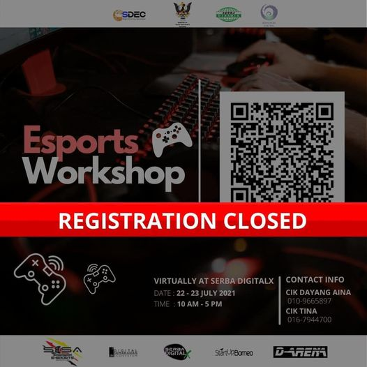 Dear all,   Registration for the Esports Workshop has been closed because we hav…