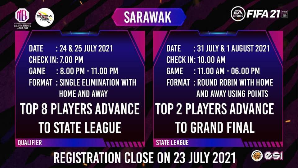 2 hari lagi sehingga pendaftaran untuk Malaysia Esports League 2021  (FIFA21) di…