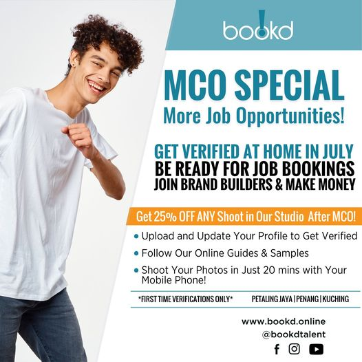 Get 25% OFF Studio Shoots after MCO   MALAYSIA ONLY  Join Us at www.bookd.onli…
