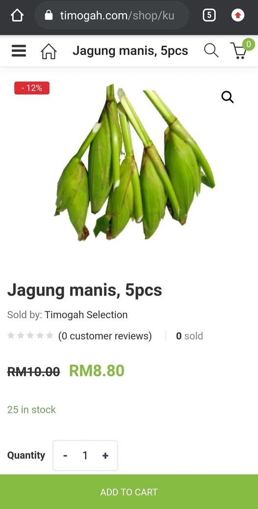 JAGUNG MANIS , 5 BIJI = RM8.80 ON SALE !!! .  ORDER SINI UNTUK DELIVERY.