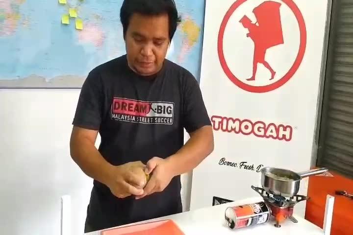 Makan buah durian, engkalak dan asam mawang – www.timogah.com