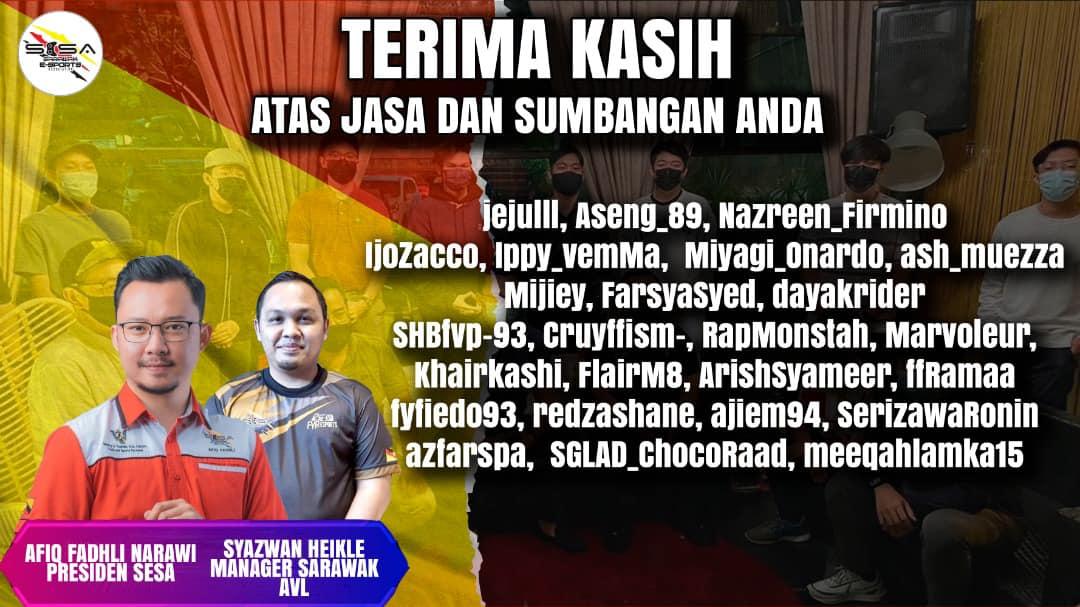 Sarawak AVL berada di tempat ke-7 Kejohanan Axis State League   Terima kasih kep…