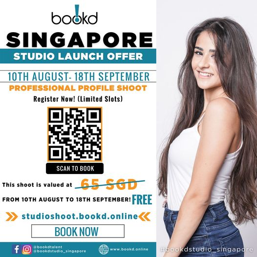 To celebrate our opening in Singapore, we are having a FREE PROFILE SHOOT month!…