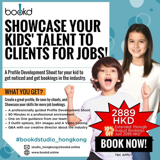 We're extending the Kid's Profile Development Shoot Offer in Hong Kong until 31s…