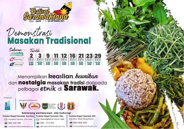 DEMONSTRASI MASAKAN TRADISIONAL   Rindu masakan tempatan Sarawak? Tak ada idea n…