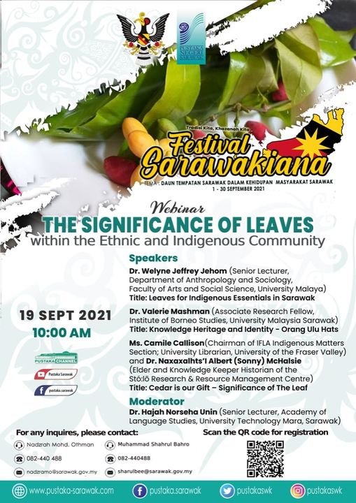WEBINAR : THE SIGNIFICANCE OF LEAVES WITHIN THE ETHNIC AND INDIGENIOUS COMMUNITY…