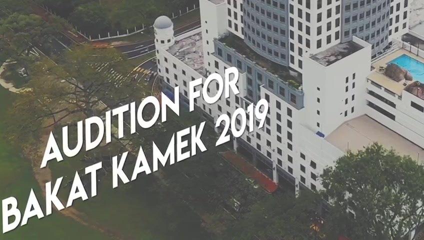 Tuan-tuan dan Puan-puan, audition untuk Program Bakat Kamek 2019 bagi peserta ya…