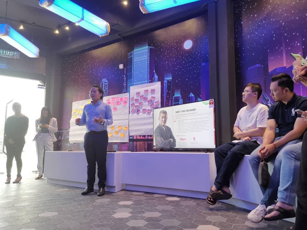 Let's Ngopi participant had an exclusive tour a D Virtual Park. Qaiyum our gener…