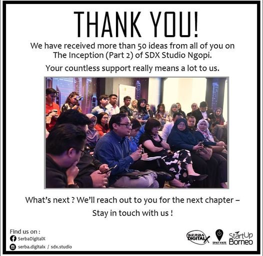 You did it! Thank you for your support on this Part 2 SDX Studio Ngopi. We are v…